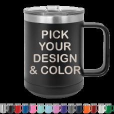 15 oz. Insulated Mug w/ Slider Lid