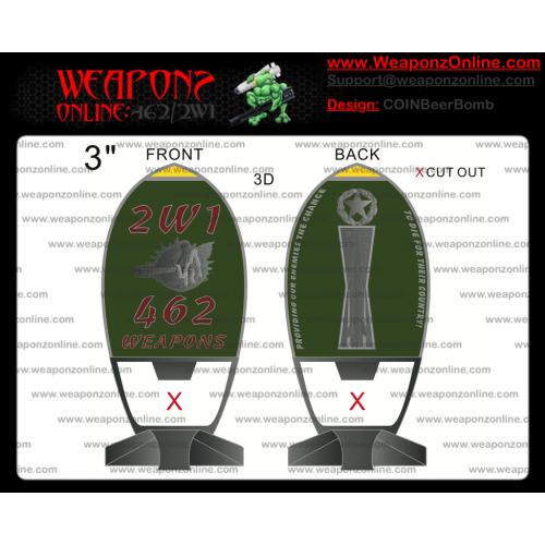 Custom Beer Bomb Challenge Coin