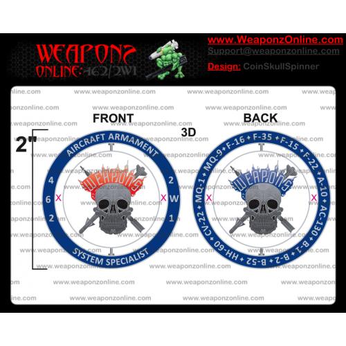 Custom Skull Spinner Challenge Coin