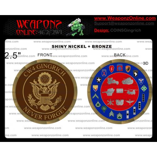 Custom Shane Gingrich Challenge Coin