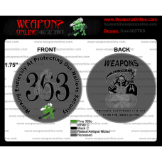 Custom Weapons 363 TRS Challenge Coin