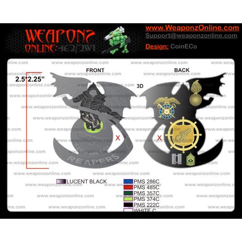 Custom 1-230th AHB E-Co Challenge Coin