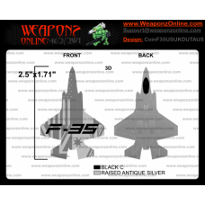 Custom F-35 Lightning II US UK Dutch Australia Challenge Coin
