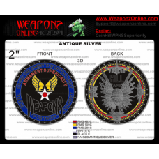 Custom Hill AFB Armament Superiority Challenge Coin