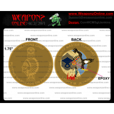 Custom Weapons Chief Master Sergeant Jenkins Challenge Coin