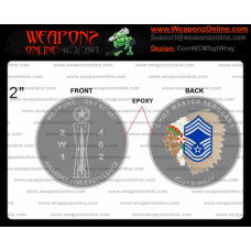 Custom Weapons Chief Master Sergeant Wray Challenge Coin