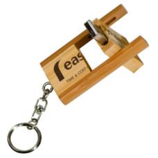 8 GB USB Flash Drive Bamboo (Flip Style)