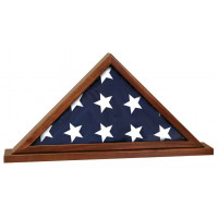 "Genuine Walnut Flag Cases with Base Attached (25 1/2"" x 12 3/4"")"