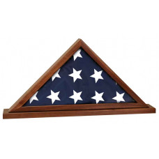 """Genuine Walnut Flag Cases with Base Attached (25 1/2"""" x 12 3/4"""")"""