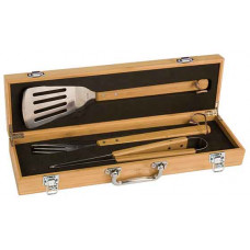 BBQ Gift Set Box and Tool Handles in Bamboo