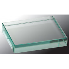 "Jade Glass Paperweight (4"" x 3"")"