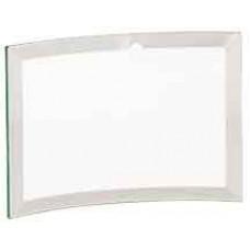 "Jade Beveled Glass Crescent (6"" x 4"" x 1/4"")"