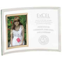 """Jade Glass Crescent with Picture Frame (10"""" x 7"""")"""