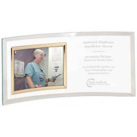 """Jade Glass Crescent with Picture Frame (12"""" x 5 1/2"""")"""
