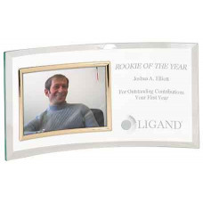 """Jade Glass Crescent with Picture Frame (12 3/4"""" x 6 1/2"""")"""