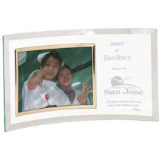"""Jade Glass Crescent with Picture Frame (13"""" x 7 1/2"""")"""