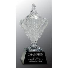 """Crystal Cup on Black Pedestal Base (10 3/4"""")"""