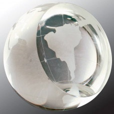 "Crystal Globe Paperweight (3"")"