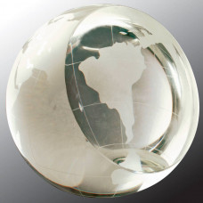 """Crystal Globe Paperweight (4"""")"""