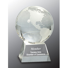 "Crystal Globe on Clear Base (4 1/2"")"