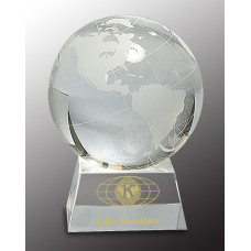 "Crystal Globe on Clear Base (5 1/2"")"
