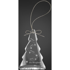 "Crystal Tree Ornament (3"")"