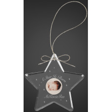 "Crystal Star Ornament (3"")"
