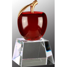 """Red Crystal Apple with Clear Base (6"""")"""