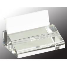 "Crystal Business Card Holder (4"" x 2 1/2"")"