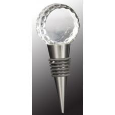"Crystal Golf Ball Wine Stopper (4"")"