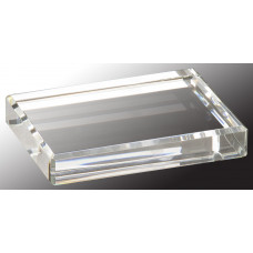 "Crystal Rectangle Paperweight (4"" x 3"")"