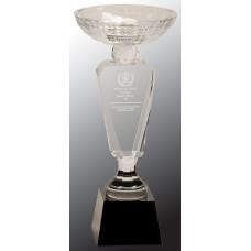"Clear Crystal Cup with Black Pedestal Base (12"")"