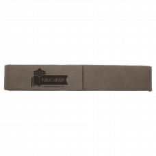"Leatherette Single Pen Case in Gray (6 1/2"" x 1"")"