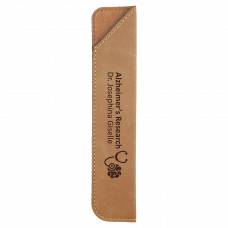 "Leatherette Pen Sleeve in Light Brown (6 1/4"")"