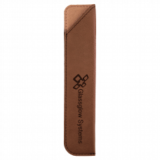 "Leatherette Pen Sleeve in Dark Brown (6 1/4"")"
