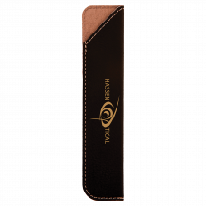 "Leatherette Pen Sleeve in Black/Gold (6 1/4"")"