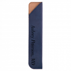 "Leatherette Pen Sleeve in Blue (6 1/4"")"
