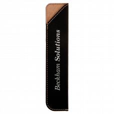 "Leatherette Pen Sleeve in Black/Silver (6 1/4"")"