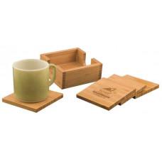 Bamboo 4 Coaster Set