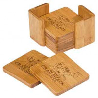 Bamboo 6 Coaster Set in Square