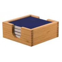 Ceramic Coaster Sets & Coaster Holder in Blue (4)