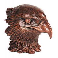 "Resin Eagle Heads Metallic Bronze (4"")"