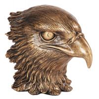 "Resin Eagle Heads Metallic Gold (4"")"