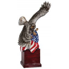 """Handpainted Eagle with Flag and Base (10 1/4"""")"""