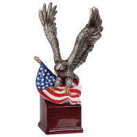 """Handpainted Eagle with Flag and Base (10"""")"""