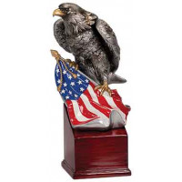 """Handpainted Eagle with Flag and Base (8 3/4"""")"""