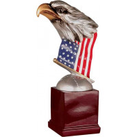 """Handpainted Eagle with Flag and Base (8 1/2"""")"""