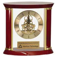 "Executive Rosewood/Gold Piano Finish Clock (7 3/4"")"