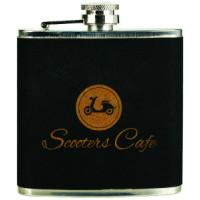 Stainless Steel Flask in Velvet/Gold (6 oz.)