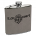 Leatherette Stainless Steel Flask in Gray (6 oz.)